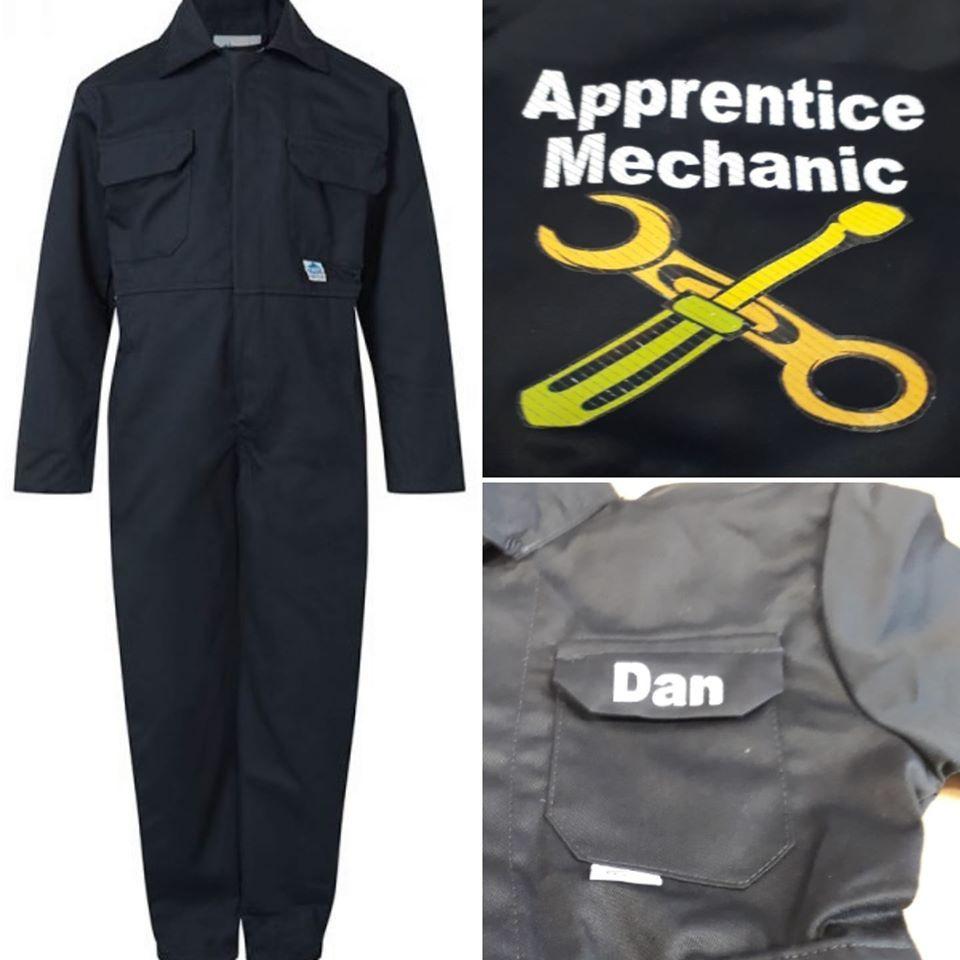 Motokids boiler suit overalls coveralls appentice mechanic