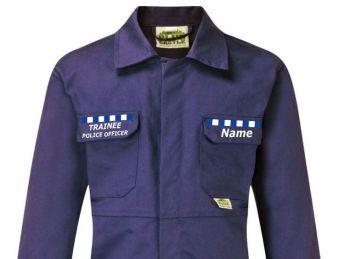Kids children boiler suit overalls coveralls customise traniee police officer