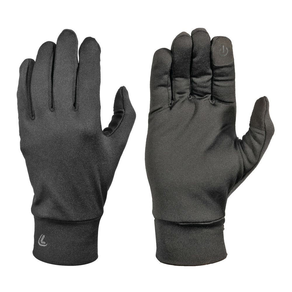 Black motorcycle scooter inner gloves with touch screen fabric