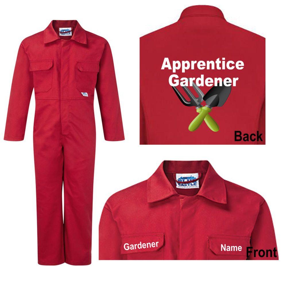 Motokids boiler suit overalls coveralls apprentice gardener