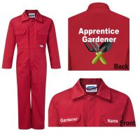 Kids Children Motokids red boiler suit overalls coveralls apprentice gardener