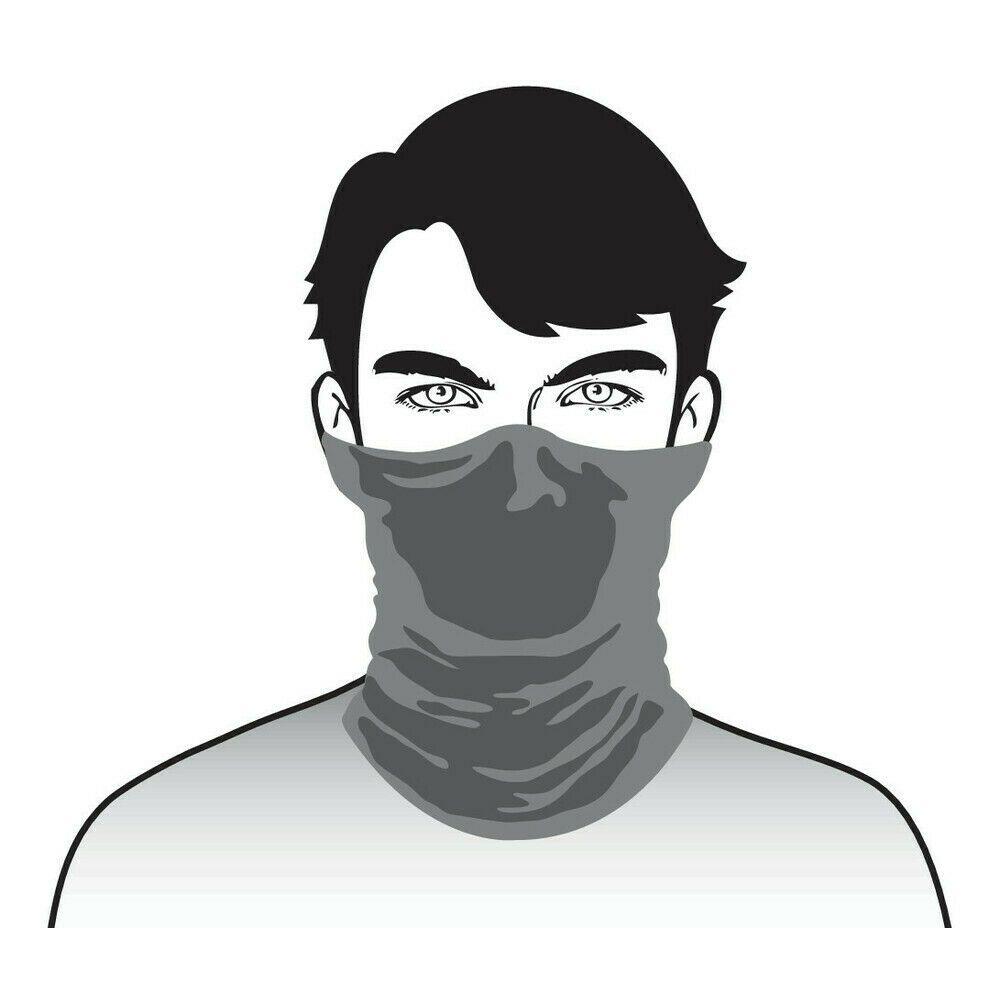 100% Cotton black neck tube face mask reusable washable unisex adults