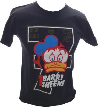 A - Barry Sheene Number 7 Retro Logo Design mens T-shirt Tee Black