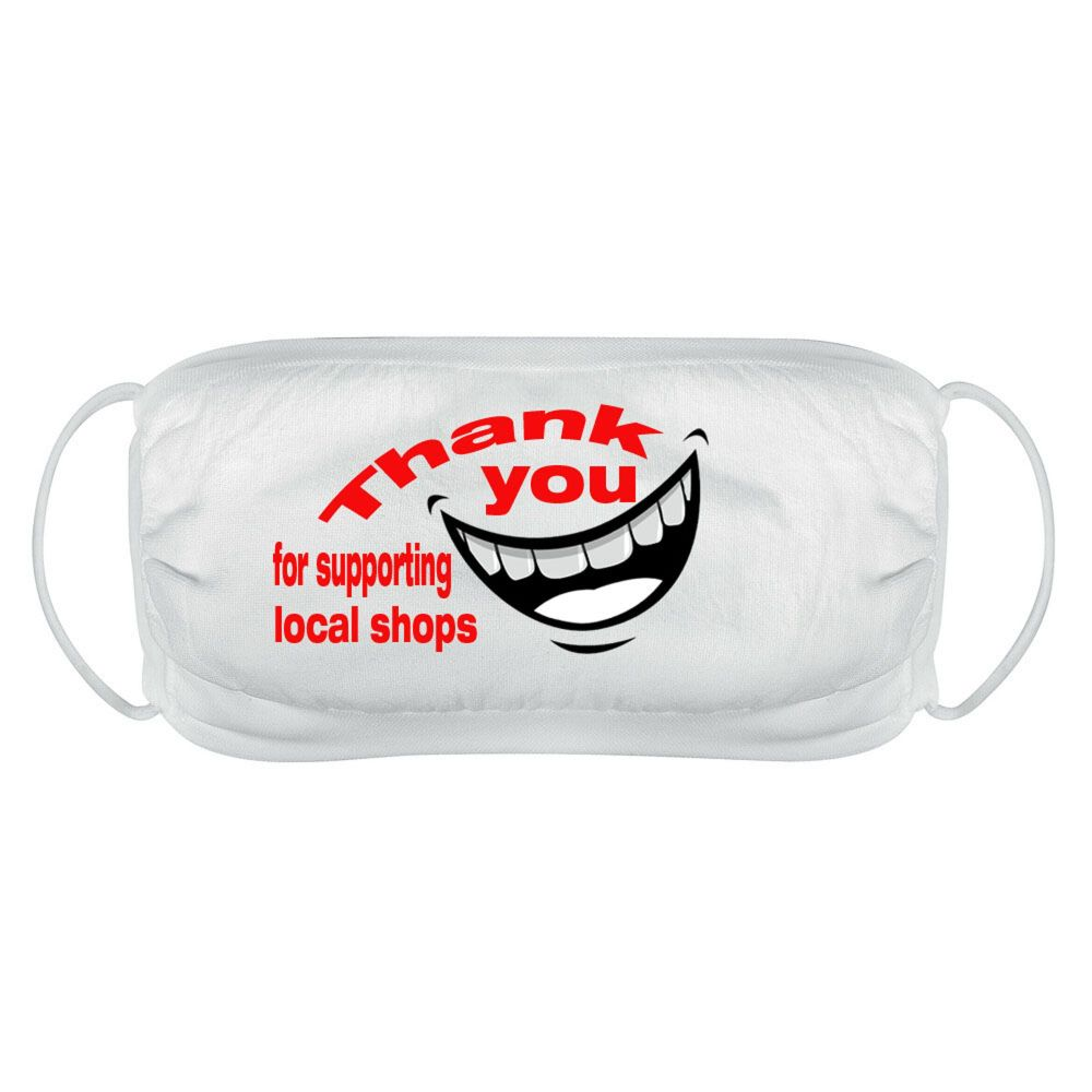 Thank you for supporting local shops face mask cover reusable washable comf