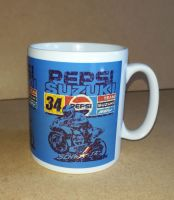 Pepsi Suzuki Kevin Schwantz Classic 80's Design Ceramic Mug