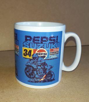 Pepsi Suzuki Racing Classic 80's Design Ceramic Mug