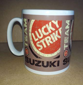 Lucky Strike Suzuki Retro Logo racing Classic 80's Design Ceramic Mug