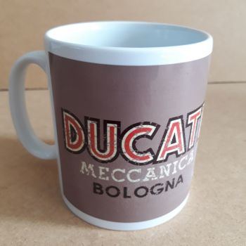 Ducati Meccanica Retro Logo Classic Design Ceramic coffee Mug 10oz