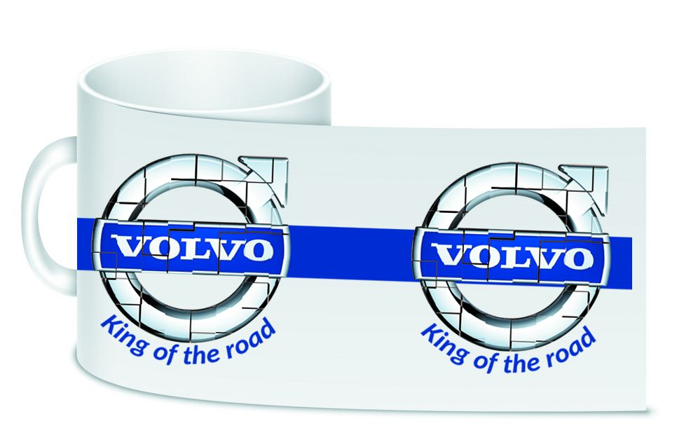 Volvo retro white motorcycle ceramic mug 10oz