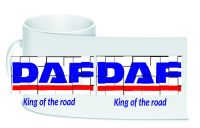 DAF retro white trucker lorry driver ceramic mug 10oz