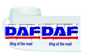DAF retro white trucker lorry driver ceramic mug 10oz