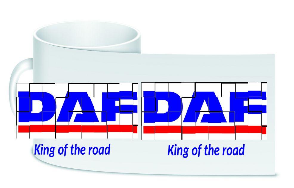 DAF retro white motorcycle ceramic mug 10oz