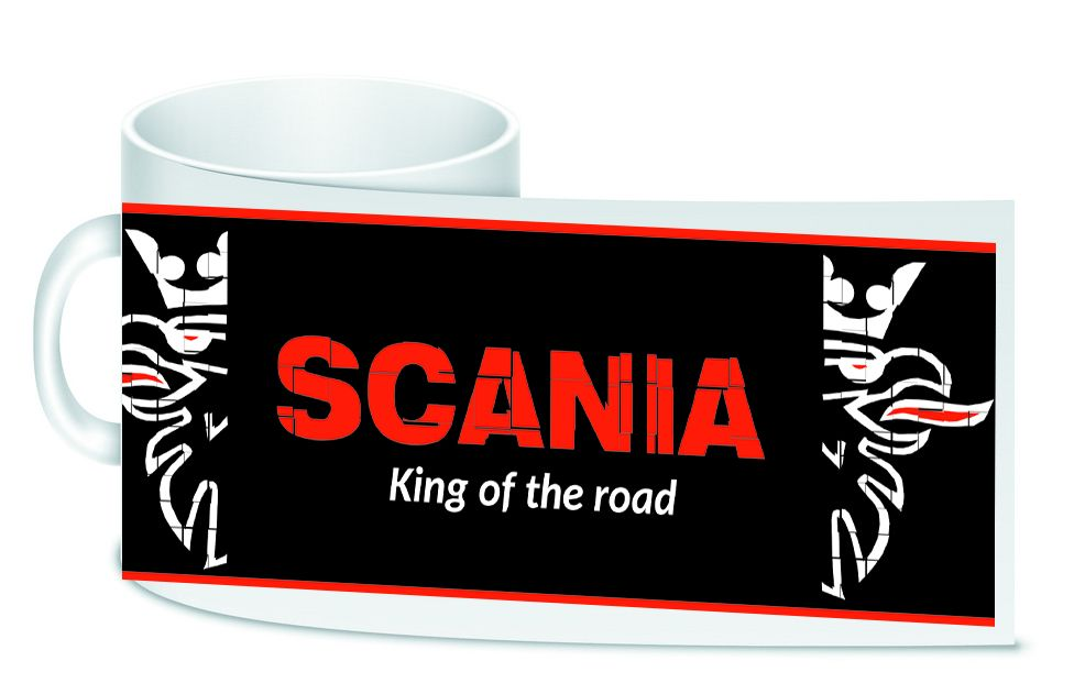 Scania retro white motorcycle ceramic mug 10oz