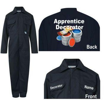 Kids children blue boiler suit overalls coveralls customise apprentice decorator