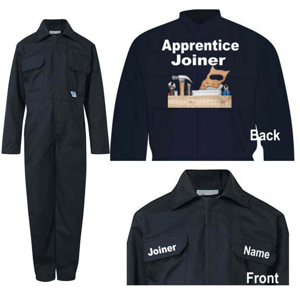 Kids children blue boiler suit overalls coveralls customise apprentice join