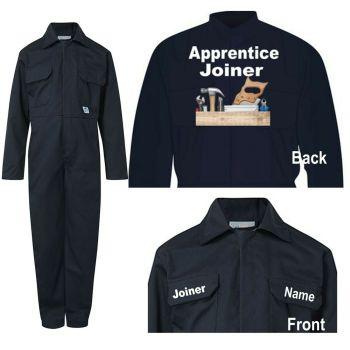 Kids children blue boiler suit overalls coveralls customise apprentice joiner