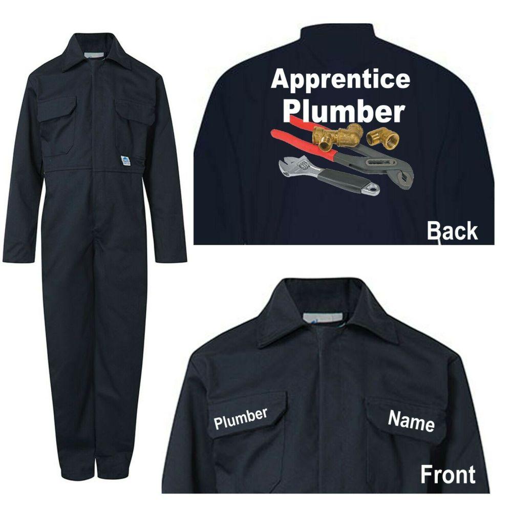 Kids children blue boiler suit overalls coveralls customise apprentice plum