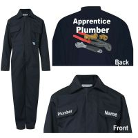 Kids children blue boiler suit overalls coveralls customise apprentice plumber