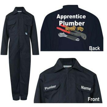 Kids children blue boiler suit overalls coveralls customise apprentice plumber