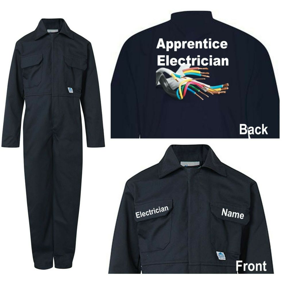 Kids children blue boiler suit overalls coveralls customise apprentice elec