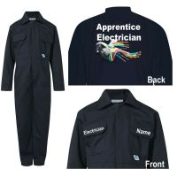 Kids children blue boiler suit overalls coveralls customise apprentice electrician