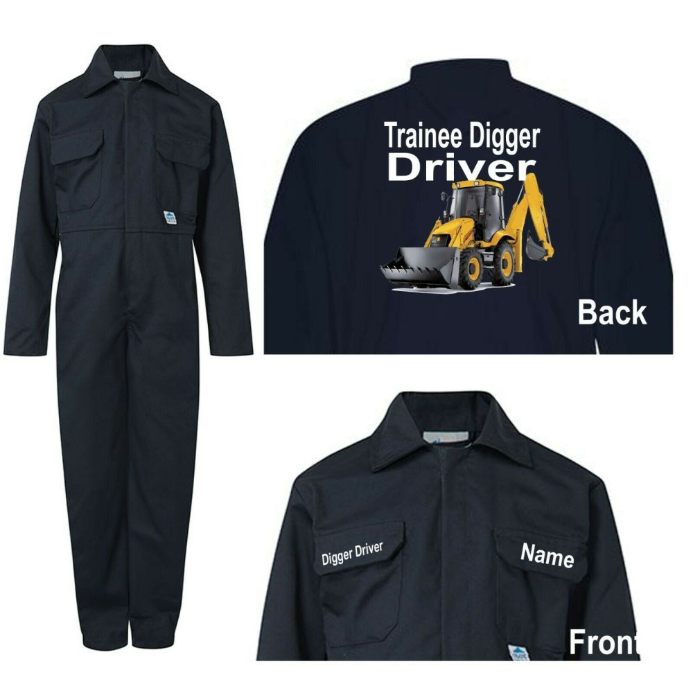 Kids children boiler suit overalls coveralls customise trainee digger drive
