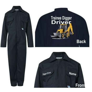 Kids children boiler suit overalls coveralls customise trainee digger driver