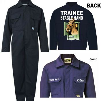 Kids children boiler suit overalls coveralls customise trainee stable hand
