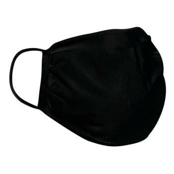 Black mouth face mask washable reusable filter antibacterial soft comfy fit