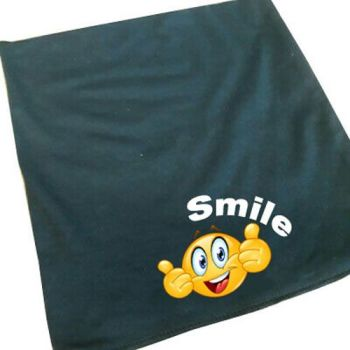 Smile black 100% cotton neck tube snood mask