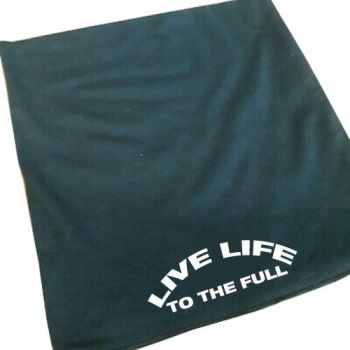 Live life to the full motorcycle black 100% cotton neck tube mask