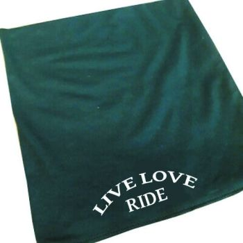 Live Love Ride motorcycle black 100% cotton neck tube mask