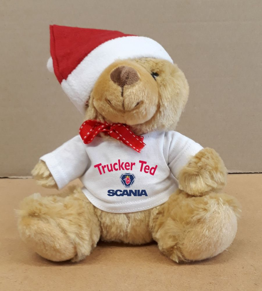 2 - Christmas Teddy Bear Scania Trucker Ted