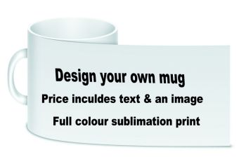 Personalise customise ceramic white large handle mug with box