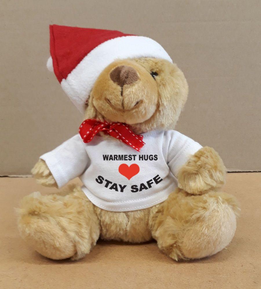 Christmas Xmas teddy bear warmest hugs stay safe