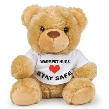 Teddy bear warmest hugs stay safe