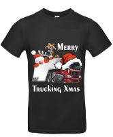 z - Merry Trucking Xmas christmas santa truck fun kids children