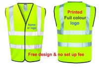 Personalise high viz visibility safety yellow orange vest truck haulage courier