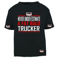 W - Grinfactor Never under estimate a fat bald trucker black tshirt tee