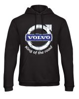 W - Volvo retro truck lorry king of the road black hoodie sweat kangroo pouch