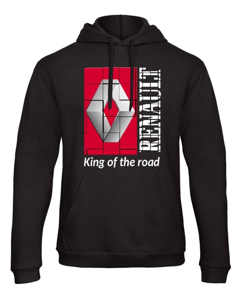 W - Renault retro truck lorry king of the road black hoodie sweat kangroo p