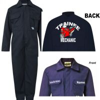 A - Kids children boiler suit overalls coveralls customise trainee bike mechanic