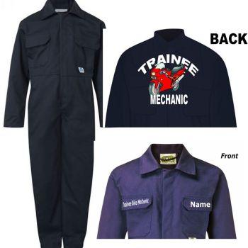 A - Kids children boiler suit overalls coveralls customise trainee bike mechanic