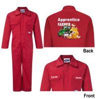 Kids children boiler suit overalls coveralls customise apprentice farmer animals