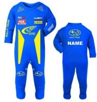 33-Car racing Scooby car rally team baby grow babygrow romper suit blue race suit