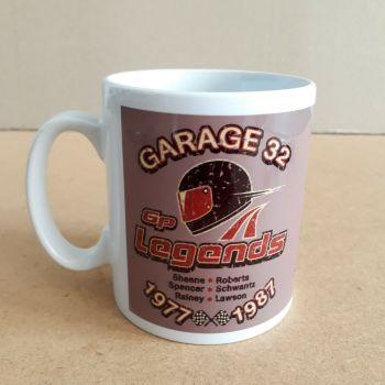 Motorcycle racing Gp Legends Sheene Lawson Roberts Rainey retro Ceramic Mug