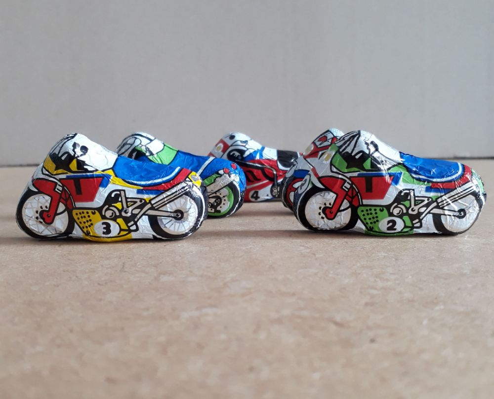 Motorcycle bike racing milk chocolates