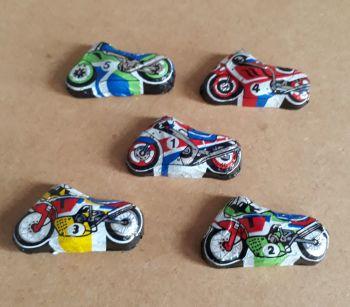 Motorcycle bike racing chocolates 5 milk chocs gluten free Easter gifts