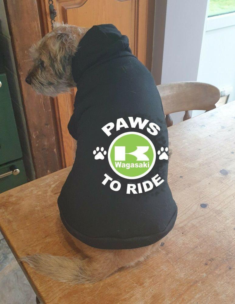 Dog pet hoodie Paws to ride Wagasaki biker motorcycle cotton pullover qauli