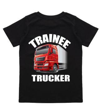 z - Trainee Trucker HGV lorry driver black t-shirt kids children 100% cotton